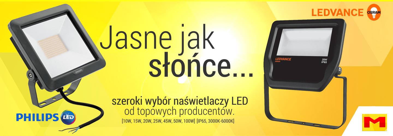 Jasne jak słońce – naświetlacze LED