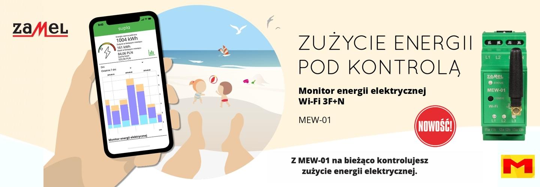 Zamel MEW-01 Monitor energii eletrycznej WiFi